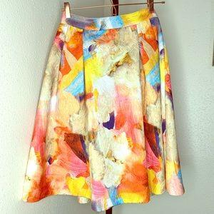 H&M fall floral a-line skirt w/ pockets NWT sz 8